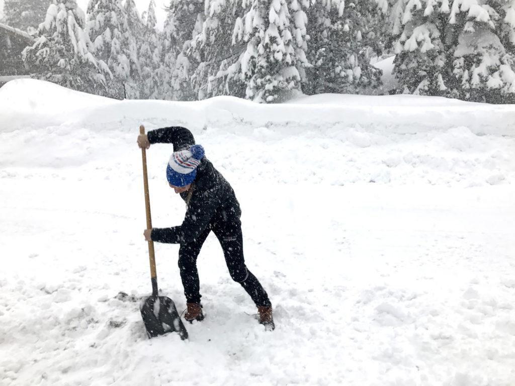 Ski, eat, sleep, shovel. [Photo] Erika Flowers