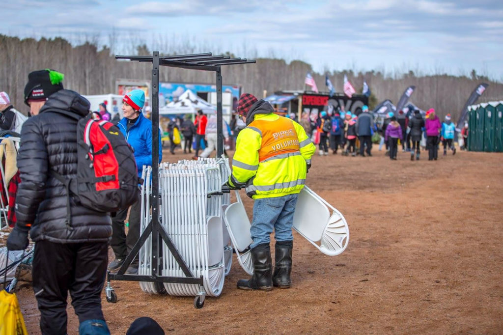 One of the hundreds of volunteers behind the American Birkebeiner. [Photo] Courtesy of ©American Birkebeiner Ski Foundation