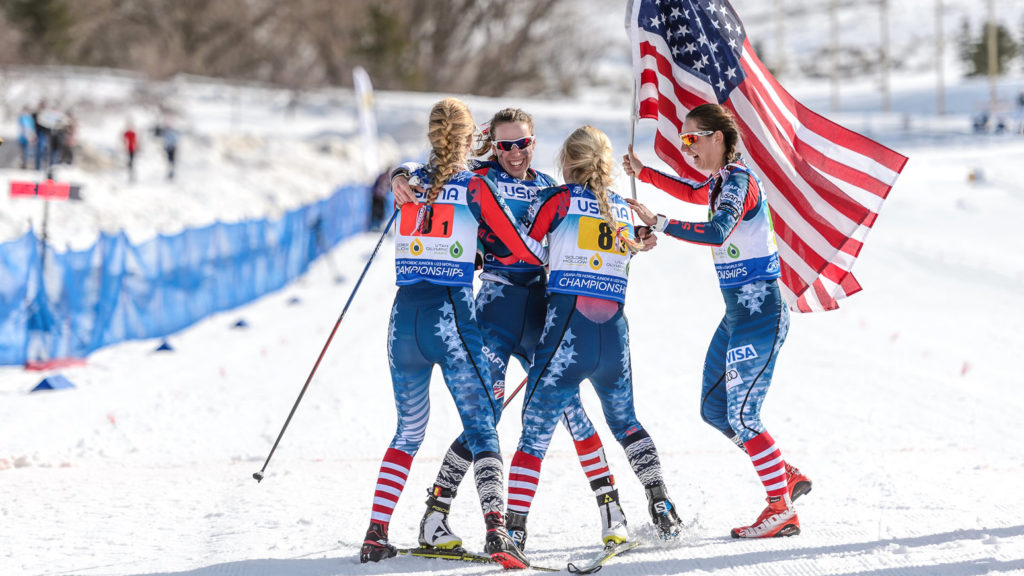 The U.S. women's junior relay bronze medalists. [Photo] Steve Fuller