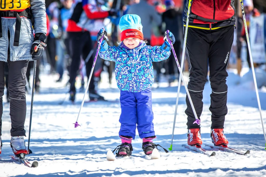 Future Birkie marathon skier. [Photo] Courtesy of ©American Birkebeiner Ski Foundation