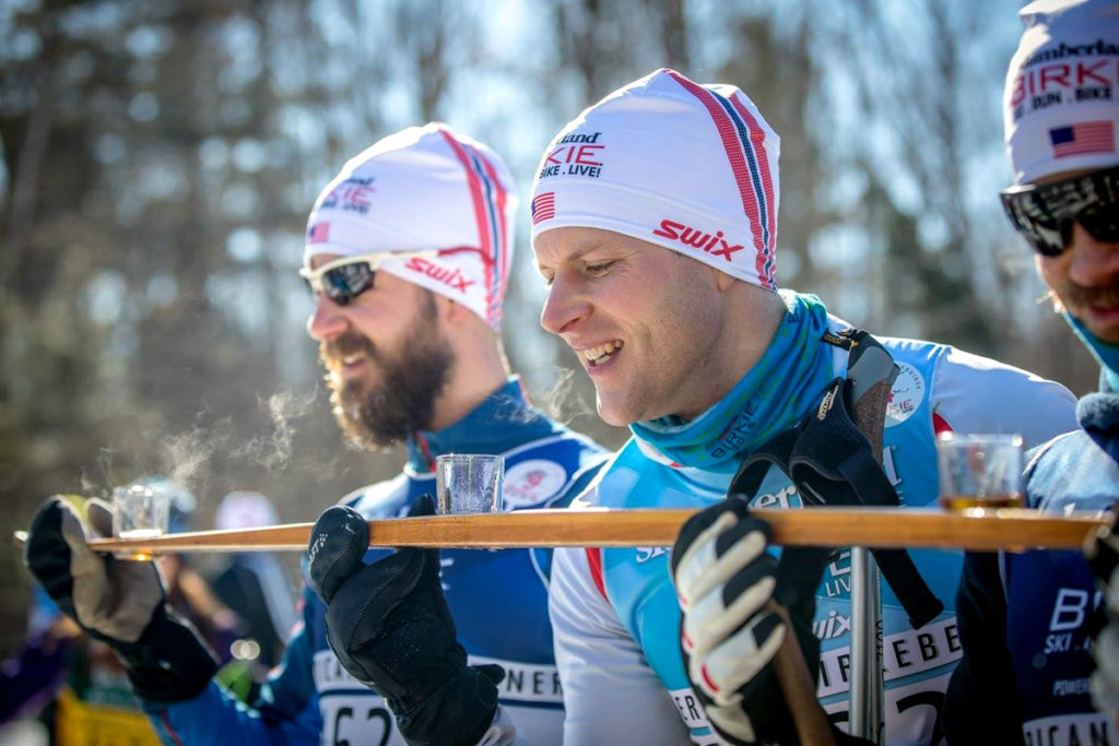 Shotski shenanigans at Birkie Fest. [Photo] Courtesy of ©American Birkebeiner Ski Foundation