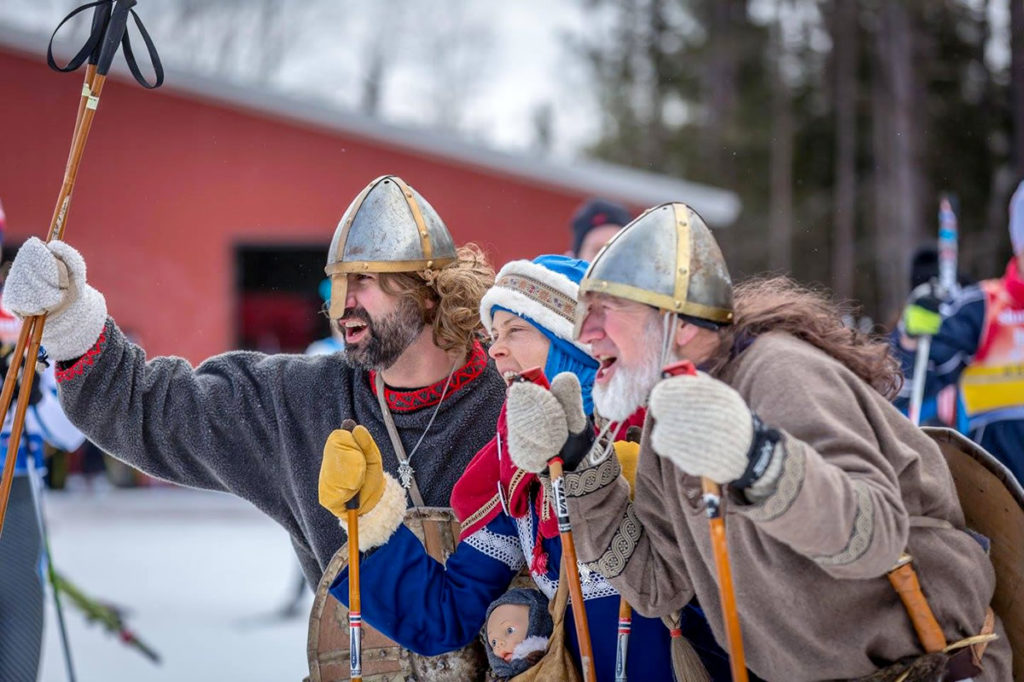 Enthusiastic Birkie Fest participants embracing the spirit and tradition of the event. [Photo] Courtesy of ©American Birkebeiner Ski Foundation