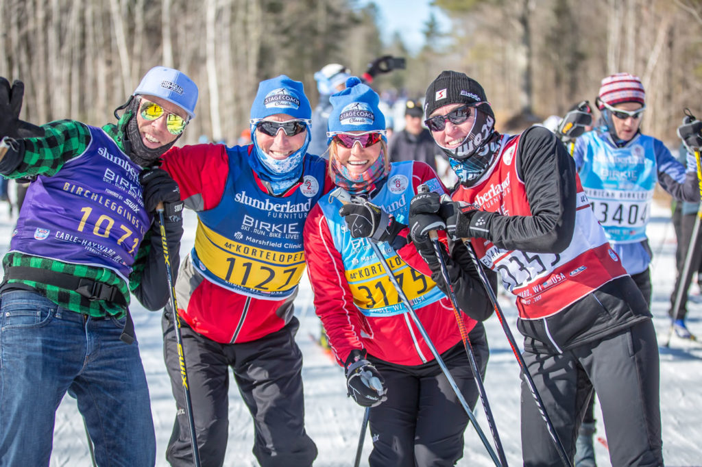 Many Birkie fans made the most of imperfect conditions and strapped on the skinny skis for a few laps of the 5km loop at Birkie Fest. [Photo] Courtesy of ©American Birkebeiner Ski Foundation