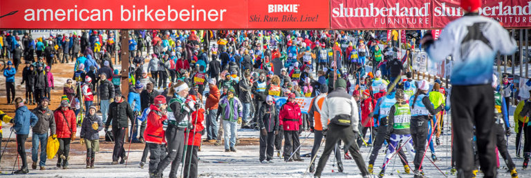 6,000+ skiers turned out for the inaugural Birkie Fest at the new American Birkenbeiner Start line. [Photo] Courtesy of ©American Birkebeiner Ski Foundation