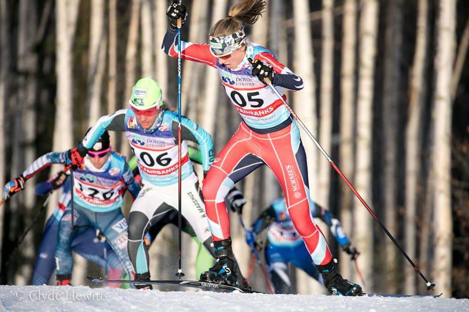 En route to my first U.S. Nationals podium in Fairbanks. [Photo] Clyde Hewitt